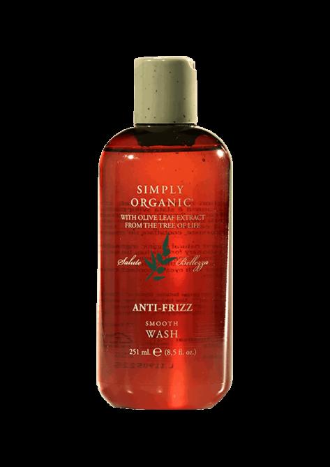 Simply Organic – Anti Frizz Smooth Wash / Shampoo per il trattamento dei capelli crespi lisciati chimicamente