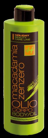 olio corpo zenzero macadamia